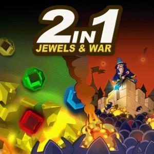 java игра 2 в 1 Jewels Explosion и Castle Defender