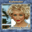 java игра Календарь - Кристина Агилера