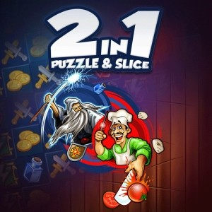 java игра 2 в 1 Pizza Ninja и Puzzle Warrior (Android)