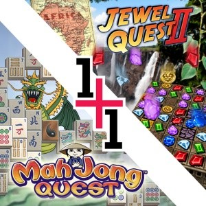 java игра 2 игры в 1 - Маджонг и Jewel Q