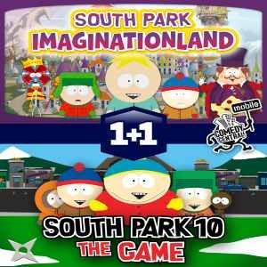 java игра South Park - 2 игры в 1
